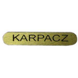 Naklejka Blaszka KARPACZ 3,5 cm