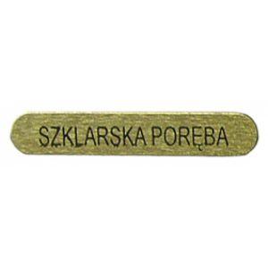Naklejka Blaszka SZKLARSKA PORĘBA 3,5 cm