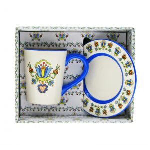 Ceramika CK-D018 Kaszubska Talerzyk+Podstawka