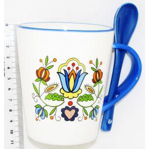 Ceramika CK-F036 Kaszubska Kubek+Łyżeczka