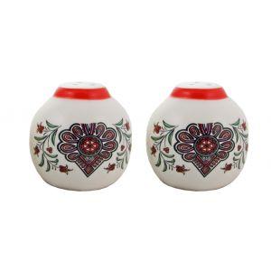 Ceramika CK-F046 Sól+Pieprz Parzenica Czerwony