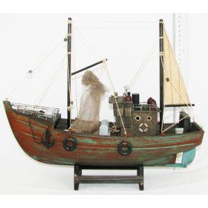 Statek-drewno HJ-F005 Kuter 38x13x35 cm