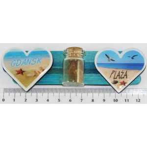 Magnes PE-H2491 patyczki serce butelka plaża Gdańsk
