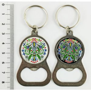 Brelok PE-G2148#071-1 Otwieracz metal srebrny Wzór drobny Kaszuby