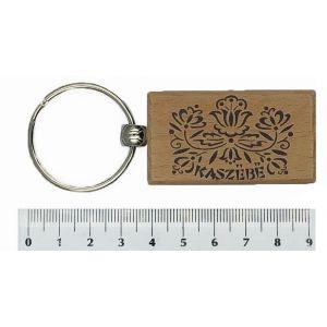 Brelok PE-H2683#071-1 drewniany Prostokąt Wzór Kaszuby