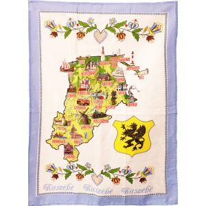 Ręcznik SR-K111 kuchenny 50x70cm mapa Kaszuby