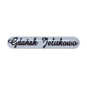 Naklejka-przezroczysta mała-Gdańsk Jelitkowo (100 szt.)
